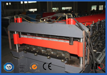 Blue Color High Strength Metal Deck Roll Membentuk Mesin Panjang Gelombang Besar